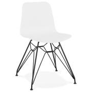 Design stoel 'GAUDY' wit industri
