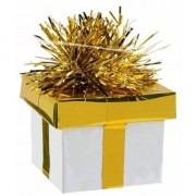 Merkloos Ballonnen gewichtje kadootje goud/zilver 175 gr