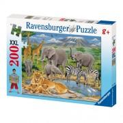 Puzzle Animare in Africa, 200 piese, RAVENSBURGER Puzzle Copii