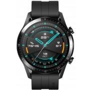 "Smartwatch Huawei Watch GT 2, Procesor Kirin A1, Display 3D AMOLED HD 1.39"", 32MB RAM, 4GB Flash, Bluetooth, GPS, Carcasa Otel, Rezistent la apa, Andorid/iOS (Negru)"