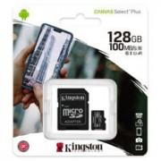 Carte Micro SD avec adaptateur Kingston Canvas Select 128 Go