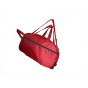 One Up (Expandable) Waterproof Expandable Trolley Bag Red 96 Travel Duffel Bag(Red)
