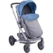 Детска комбинирана количка Lorelli S500 2in1 Blue and Grey с покривало 2016, 10020931680