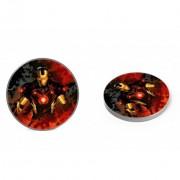 Marvel vezeték nélküli töltő - Iron Man 002 micro USB adatkábel 1m 9V/1.1A 5V/1A (MCHWIMAN002)