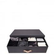 Jakob Utensilienbox Schwarz Holzdekor Bigso Box of Sweden