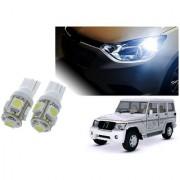 Auto Addict Car T10 5 SMD Headlight LED Bulb for Headlights Parking Light Number Plate Light Indicator Light For Mahindra Bolero XL