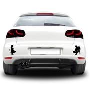 Sticker auto - Inger vs. diavol