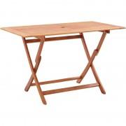 Youthup - Table pliable de jardin 120x70x75 cm Bois d'eucalyptus solide