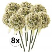 Bellatio flowers & plants 8x Witte sierui kunstbloemen 70 cm