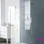 vidaXL Panel za tuširanje od stakla 25 x 44,6 x 130 cm bijeli