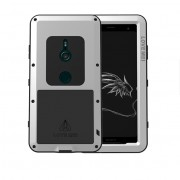 LOVE MEI Dust-proof Shock-proof Splash-proof Powerful Metal + Silicone Defender Shell for Sony Xperia XZ3 - Silver