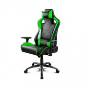 Drift SILLA GAMING DR400BG NEGRO VERDE BLANCO INCLUYE COJINES CERVICAL Y LUMBAR DR400BG