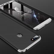 GKK Empalme Tres Etapa Plena Cobertura PC Case Para Huawei Honor 7a / Y6 (2018) (negro + Plata)