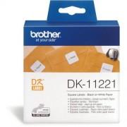 Brother DK11221 papírszalag, 23x23mm, 1000 címke/tekercs