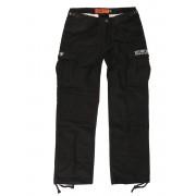 pantaloni WEST COAST CHOPPERS - M-65 CARGO PANTS - Annata nero - WCCBR105ZW