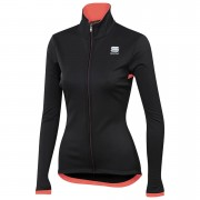 Sportful Women's Luna SoftShell Jacket - L - Black/Coral Fluo