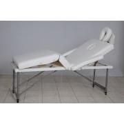 Masa masaj plianta - 4 sectiuni Aluminiu Alb