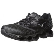 Mizuno Men's Wave Prophecy 5 Running Shoe, Black/Silver/Dark Shadow, 7 D US
