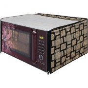 Glassiano Beige Checkered Printed Microwave Oven Cover for Samsung 28 Litre Convection Microwave Oven MC28H5025VB/TL Black