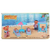1:6 Simulation Beach Chairs Set Play House Props Dollhouse Creative DIY Material