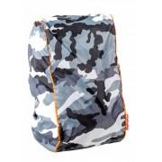 DripDropBag regenhoes voor rugzak wit/grijs/zwart 55 x 40 x 15 cm