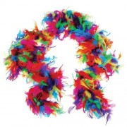 US Toy One Rainbow Feather Boa Costume, 6' x 60gm, Multicolor (2-Pack)