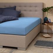 Presence Jersey Hoeslaken - Silver - Royal Blauw 180 x 200/220