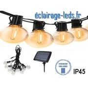 Guirlande LED solaire 5M 10 ampoules led COB blanc chaud IP45 ref gls-02
