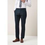 Next Signature Cotton Blend Suit: Trousers - Tailored Fit - Navy - Mens