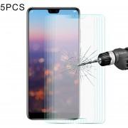 5 PCS Enkay Hat Príncipe Para Huawei P20 0.26mm 9h Dureza 2.5D Borde Curvado Tempered Glass Screen Film
