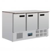 Polar G-Series 3 Door Counter Fridge with Granite Work Top 368Ltr