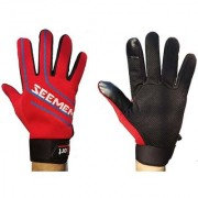 Mens / Womens Waterproof Winter Gloves with Touch Screen Fingertips (RED)