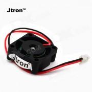 Ventilador de doble cojinete de bolas Jtron Mini - Negro (DC 24V)
