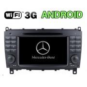 "Autoradio Android Mercedes CLK W209 2006-2012 2 DIN 7"" HD GPS Mirrorlink"