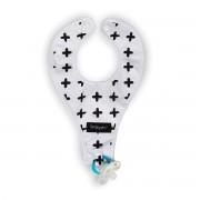 Simplygood - Slabbetje - Binky Bib - Zwart & Wit Plus - One size
