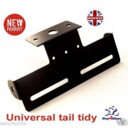 Motorcycle universal tail tidy with led light drilled holes