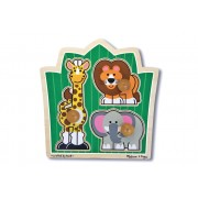 3 Piece Jungle Friends Knob Puzzle by Melissa & Doug