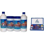chemical Kit '4 All' Kit Pulizia Piscina 4+1 Trattamento Acqua Cloro Disinfettante Antialghe Riduttore Ph - 4 All