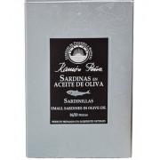 Ramón Peña Sardinas en aceite de oliva picantes, linea plata, 115 gr. 12/16