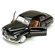 1949 Mercury Eight Coupe Black - Motormax 73225 - 1/24 scale Diecast Model Toy Car