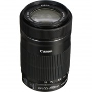 Lente Canon EF-S 55-250mm f/4-5.6 IS STM Lens 55 250 F 4 5.6 - White Box