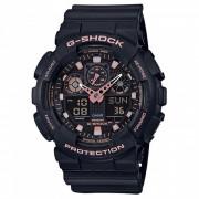 casio g-shock GA-100GBX-1A4 reloj de pulsera de serie estandar-negro + oro rosa