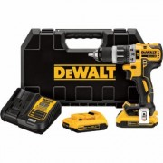 DEWALT 20V MAX XR Lithium-Ion Cordless Electric Compact Hammerdrill Kit - Brushless, With 2 Batteries, 1/2Inch Chuck, 2,000 RPM, 34,000 BPM, Model