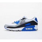 Nike Air Max 90 White/ Particle Grey-Hyper Royal-Black