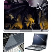 Finearts Laptop Skin Angry Batman With Screen Guard And Key Protector - Size 15.6 Inch