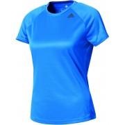adidas D2M Hardloopshirt korte mouwen Dames blauw XS 2017 Hardloopshirts