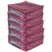 Ajabh High Qulity NEW COMBO OF 5PCS 6inch HIGHT SAREE COVER GIFT ORGANIZER TRAVLING BAG KEEP SAREE\SALWAR\JEANS\TOP ETC.(Maroon)