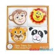 Bead Bazaar 4 db-os fa puzzle - állatkert