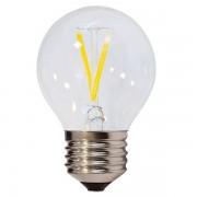 LED lámpa, égő, E27 foglalat, G45 körte forma,filament 2 watt, 300°, meleg fehér - Optonica