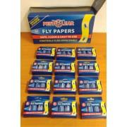 Спирала-капан с лепило за мухи и други летящи насекоми - 12 х 4 бр. PestClear